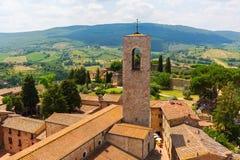 Aerial view of San Gimignano, Tuscany, Italy Royalty Free Stock Photography