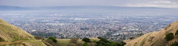 Aerial view of San Jose, California royalty free stock photography