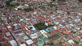 Aerial view of San Jose suburb, Costa Rica Royalty Free Stock Photo