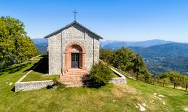 Aerial view of San Martino Church in province of Varese, Italy. royalty free stock photo