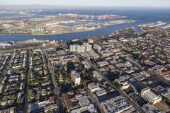 Aerial View of San Pedro California Royalty Free Stock Photography