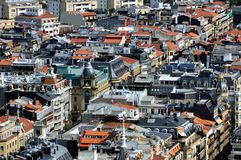 Aerial view of San Sebastian Stock Photos