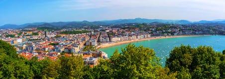 Aerial view of San Sebastian, Spain Royalty Free Stock Photography