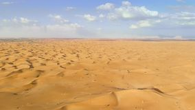 Flying over Middle Eastern desert stock footage