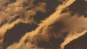 Aerial view of sand dunes - South Africa stock footage