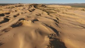 Aerial view of sand dunes - South Africa stock video