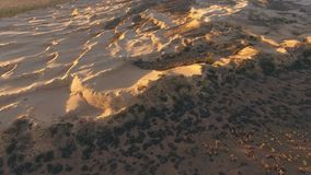 Aerial view of sand dunes - South Africa stock video footage