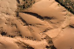 Aerial view of sand dunes - South Africa Royalty Free Stock Photo