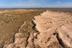 Aerial view of sand dunes - South Africa Stock Photo
