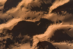 Aerial view of sand dunes - South Africa Stock Image