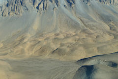 Aerial view of sand textures Royalty Free Stock Images