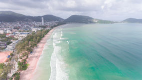 Aerial view of sandy beach Stock Image