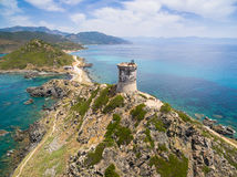 Aerial view of Sanguinaires bloodthirsty Islands in Corsica, Fra. Nce Royalty Free Stock Image