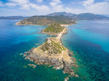Aerial view of Sanguinaires bloodthirsty Islands in Corsica, Fra Stock Photo