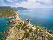 Aerial view of Sanguinaires bloodthirsty Islands in Corsica, Fra. Aerial view of Sanguinaires bloodthirsty Islands - Corsica, France Royalty Free Stock Images