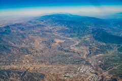 Aerial view of Santa Clarita area. Los Angeles County, California royalty free stock photos
