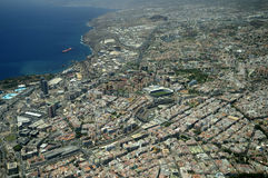 Aerial view, Santa Cruz de Tenerife, Canary Is. Royalty Free Stock Photos