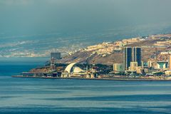 Aerial view of Santa Cruz de Tenerife. Canary islands, Spain stock photo