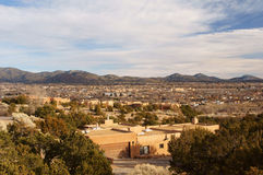 Aerial view of Santa Fe NM royalty free stock image
