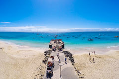 Aerial view of Santa Maria beach in Sal Cape Verde - Cabo Verde Stock Photo