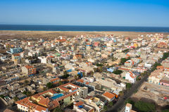 Aerial view of Santa Maria city in Sal Island Cape Verde - Cabo Royalty Free Stock Images