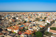 Aerial view of Santa Maria city in Sal Island Cape Verde - Cabo Royalty Free Stock Photos