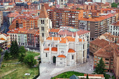 Aerial view of Santa Maria de La Antigua church Stock Photography
