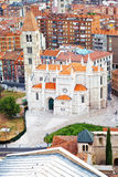 Aerial view of Santa Maria de La Antigua church Royalty Free Stock Images