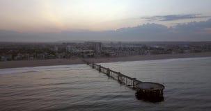 Aerial View of Santa Monica Pier stock video footage