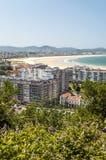 Aerial view of Santander Royalty Free Stock Photos
