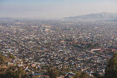 Aerial view of Santiago de Chile. Stock Photos