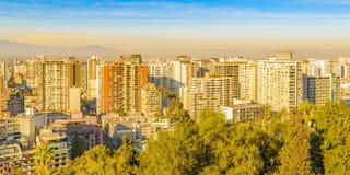Aerial Cityscape, Santiago de Chile stock photo