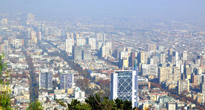 Aerial view of Santiago de Chile Stock Images