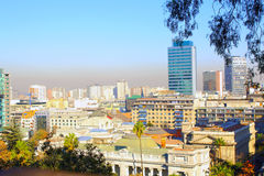 Aerial view of Santiago de Chile Royalty Free Stock Images