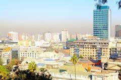 Aerial view of Santiago de Chile Stock Photo