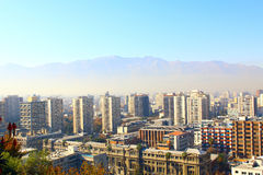 Aerial view of Santiago de Chile Royalty Free Stock Photo