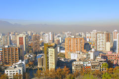 Aerial view of Santiago de Chile Royalty Free Stock Photos