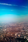 Aerial view of Sao Paulo stock photography