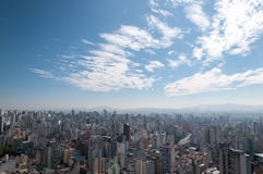 Aerial view of sao paulo. Aerial view of the area northwest of sao paulo. Jaraguá Peak in the background Stock Images