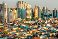 Aerial view of Sao Paulo, Brazil.  Royalty Free Stock Photo