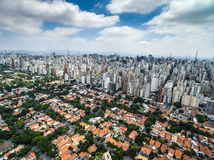 Aerial view of Sao Paulo, Brazil.  Royalty Free Stock Images