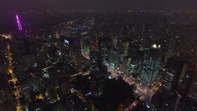 Aerial view in Sao Paulo City. Brazil stock footage