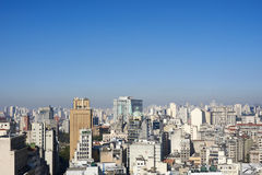 Aerial view of Sao Paulo city Brazil Stock Image