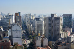 Aerial view of Sao Paulo city Brazil Stock Images