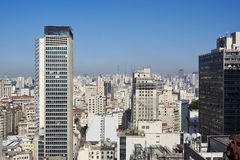 Aerial view of Sao Paulo city Brazil Royalty Free Stock Image