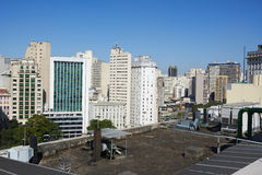 Aerial view of Sao Paulo city Brazil Royalty Free Stock Images