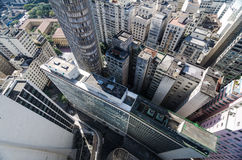 Aerial view of Sao Paulo City downtown buildings Stock Image
