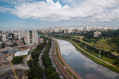 Aerial view of Sao Paulo Royalty Free Stock Photo