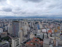 Aerial view of sao paulo from the roof of altino arantes building Stock Images