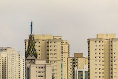 Aerial View of Sao Paulo, Brazil royalty free stock photography